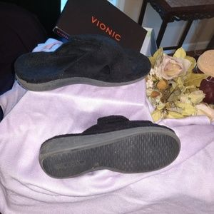 Vionic Indulge Relax Terry Velcro adjust slippers